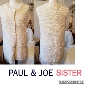 Paul & Joe Sister  Curly Cream Vest